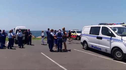 Emergency services were called to the blowhole just before 12.30pm today.
