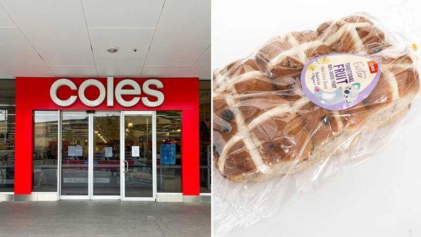 Coles store / Coles Hot Cross Buns