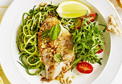 Chicken with zucchini noodles