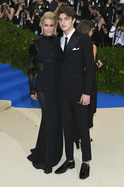 Yolanda Hadid with son Anwar at the 2017 Met Galal 'Rei Kawakubo/Comme des Garcons: Art Of The In-Between' in May 2017