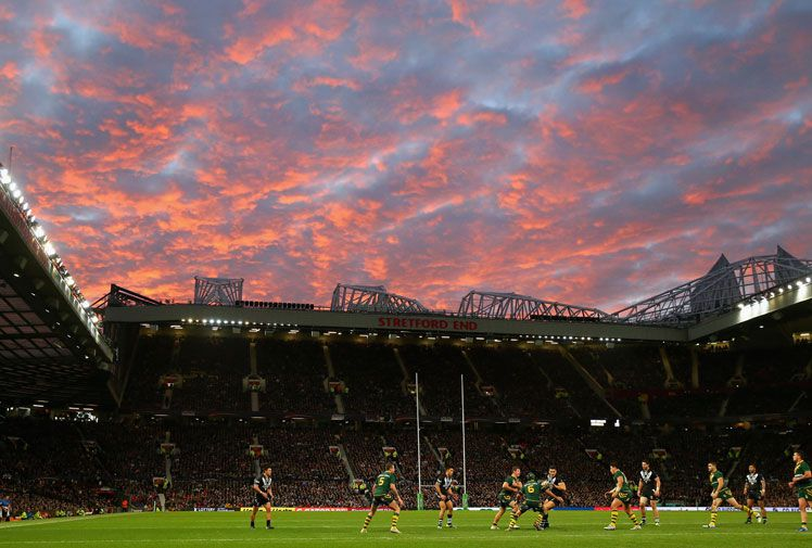 A beautiful Manchester sunset provided the perfect backdrop for the decider. (Getty)