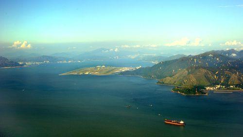 The artificial islands would be built near Lantau Island.