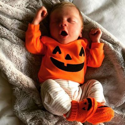 Happy Halloween all. Baby Gunner celebrates the holiday.