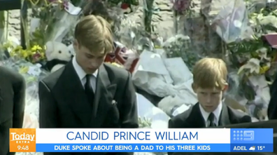 William and Harry and Princess Diana funeral
