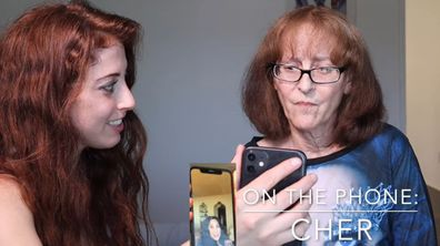 Cher surprises fan with facetime call.