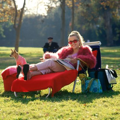 <p><strong>2.</strong> Fur with a side of sparkles- <em>Legally Blonde</em> 2001</p> <p>In what has to be one of the film's most iconic scenes, Elle's take on off-duty style results in a pink fur, sparkly sequinned bikini and heels... to sit on the sidelines of a football game. Snaps.</p>