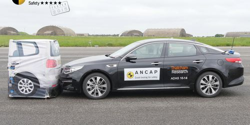 The Kia Optima is one of the growing number of local cars that feature autonomous emergency braking. Picture: Supplied