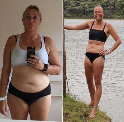 Lorraine's body transformation