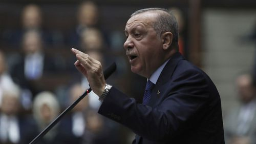 Turkish President Recep Tayyip Erdogan has called Kurdish Syrian soldiers 'terrorists'.