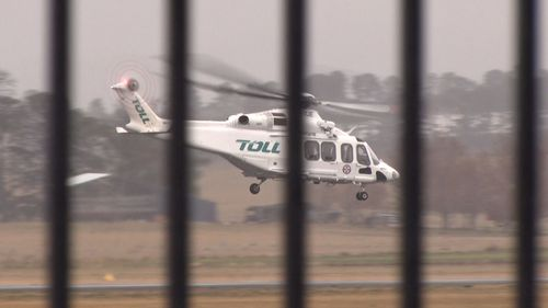 The boy was placed in an induced coma before being flown to The Children's Hospital at Westmead.