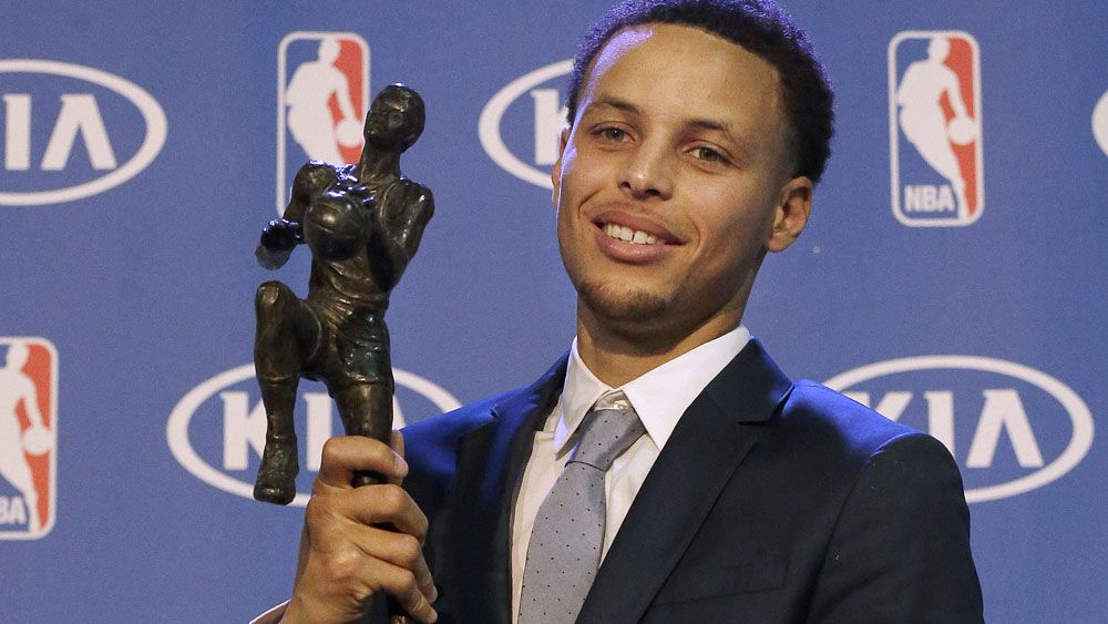 Steph Curry was named NBA MVP for the second successive season. (AAP)