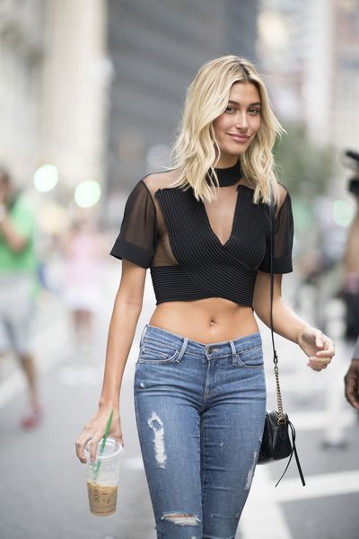Hailey Baldwin at the Victoria's Secret Casting Call in New York, August 21, 2017