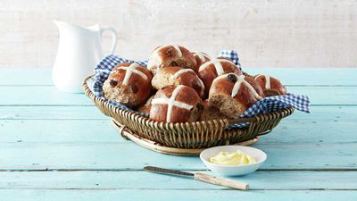 "At <a href=""https://www.aldi.com.au/"" target=""_top""><strong>ALDI</strong></a> the buns are called Baker's Life and they are plump and filled with juicy fruit, unless you go for the fruitless variety of course.&nbsp;<br /> RRP - Bakers Life Hot Cross Buns and fruitless buns $2.99 per &frac12; dozen, or for mini 9pack<br /> <strong><br /> </strong>"