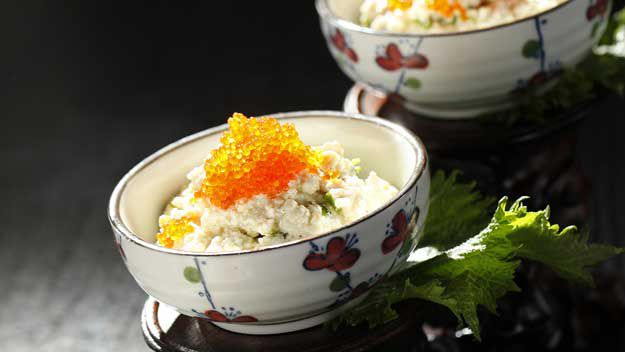 Beijing-style Tofu with Shallots and Fish Roe