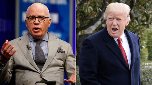 US journalist Michael Wolff and President Donald Trump. (AAP)