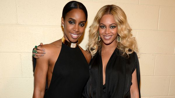 Kelly and Beyonce - besties and baby mamas. Image: Getty.