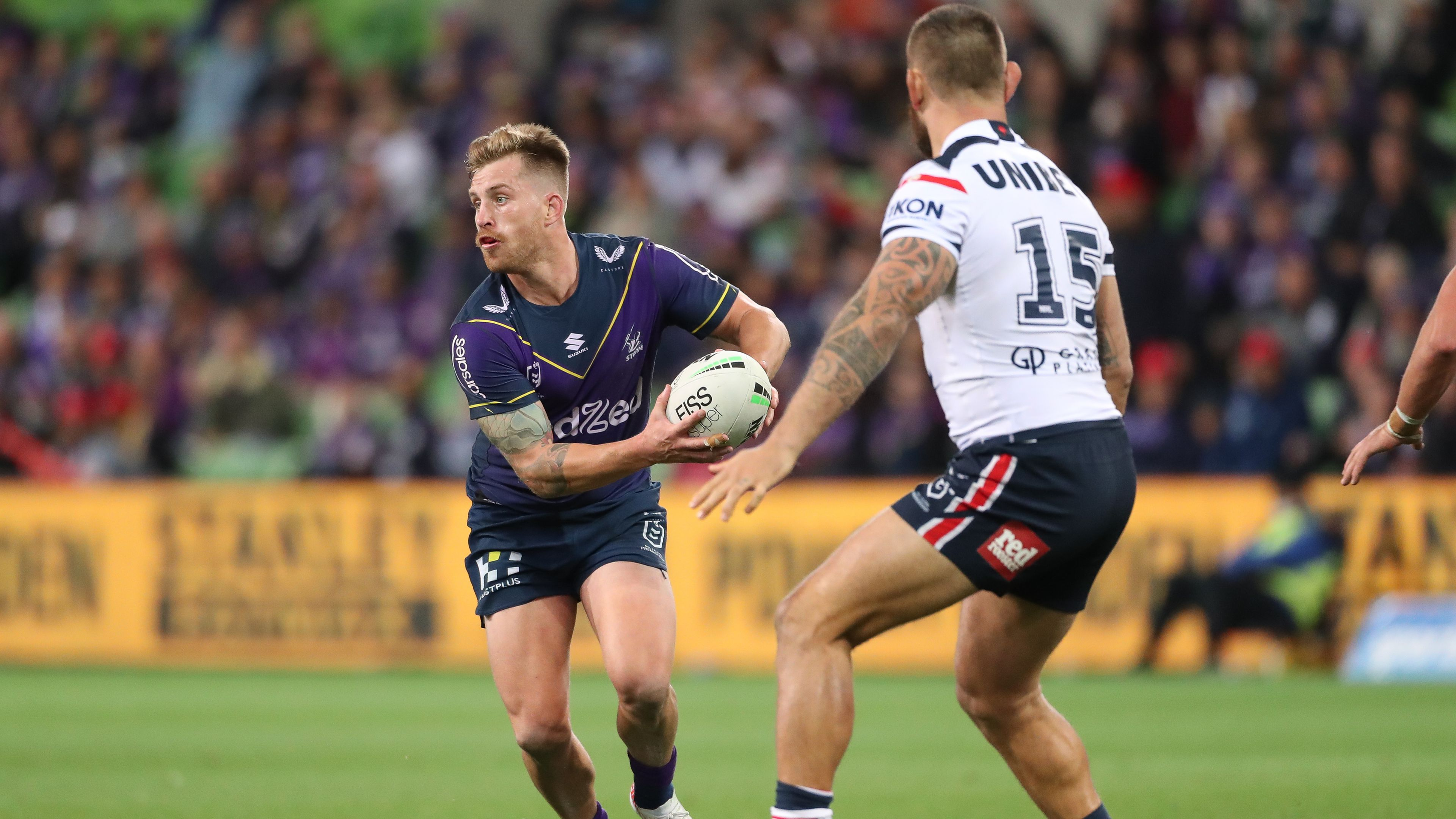 Melbourne Storm admit to using loophole for free interchange in Cameron Munster incident