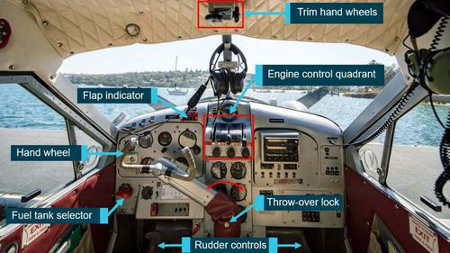 The cockpit layout of the plane as detailed in the ATSB's interim report.