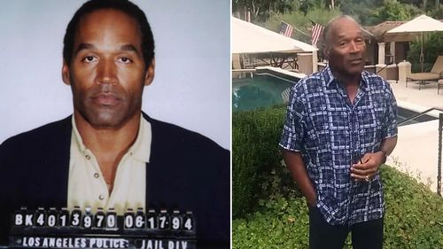 O.J. Simpson's LAPD mugshot and a screengrab of his Twitter video, where he said he's 'got a little getting even to do'.