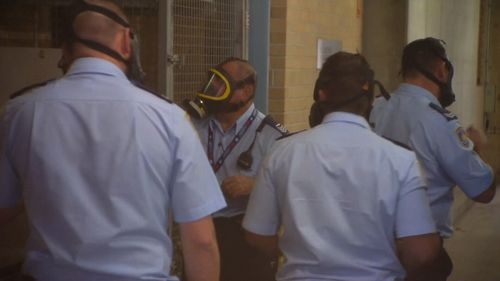 """Mr Mathews was deemed """"too volatile"""" to appear at Burwood court today. Picture:9NEWS"""