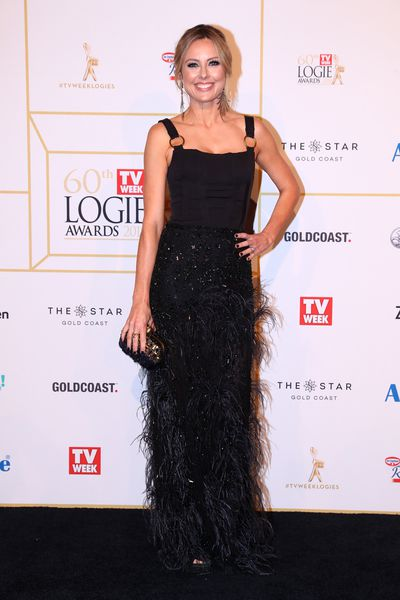 <em>Weekend Today</em>'s Alison Langdon at the 2018 Logie Awards