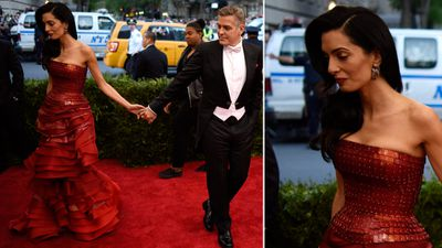 Human rights lawyer Amal Clooney with husband, actor George Clooney. (AAP)