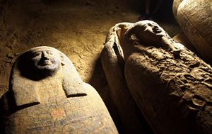 Ancient unsealed coffins found in Egyptian burial well