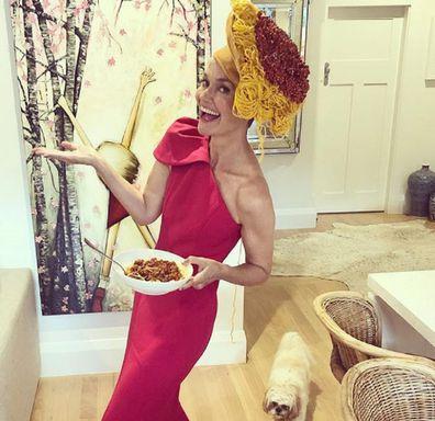 Jessica Rowe spag bol hat