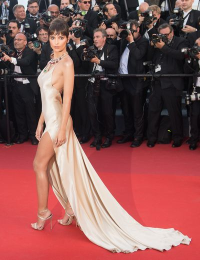<p>Model and actress Emily Ratajkowski, certainly knows how to make an entrance on a red carpet as she turned heads at the opening of this year's Cannes Film Festival in a sheer, nude slip gown by Twinset Simona Barbieri that was accessorised with colourful statement jewels from Bulgari.</p> <p>The star of the Blurred Lines video and <em>Gone Girl</em> wasn't the only one who made a statement with a barely-there appearance.</p> <p>Supermodel Bella Hadid paid homage to her show-stopping, thigh-high look from last year's Cannes red carpet in a gown by Alexandre Vauthiere that left little to the imagination. </p> <p>The film festival&rsquo;s red carpet hasn't just been all risqu&eacute; slits and nude gowns.</p> <p>Model Lily-Rose Depp channelled a Greek goddess in a flowing gown by Chanel, and Elle Fanning donned a breathtaking Vivienne Westwood creation that was reminiscent of the glamorous gowns that have shaped the Cannes red carpet throughout its 70-year history.</p> <p>Click through to see the best red carpet looks so far from this year's Cannes Film Festival.&nbsp;</p>