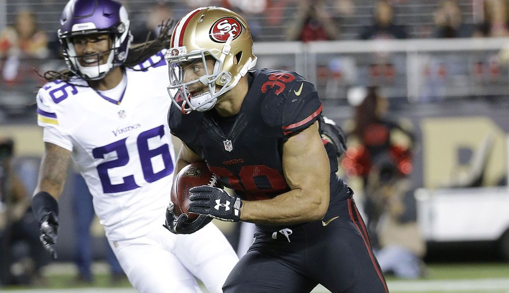 Jarryd Hayne in action for the San Francisco 49ers. (AAP)