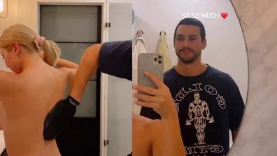 MAFS' Martha Kalifatidis asks Michael Brunelli to help apply fake tan