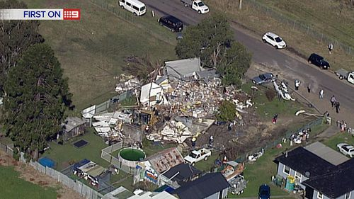 The family targeted by the alleged attack have now been left homeless. (9NEWS)