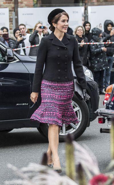 Crown Princess Mary arrives at Danish Parliament in Copenhagen, October 2, 2018