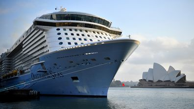 Royal Caribbean International's cruise ship Ovation of the Seas arrives in Sydney Harbour after returning from New Zealand, in Sydney, Monday, December 16, 2019.