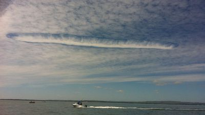 The cloud formation captured from Western Port Bay, Victoria. (Adam Winterhalter)