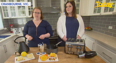 Victorian mums Karlie Suttie and Rachael Hallett shared some of their favourite cleaning hacks with Today.