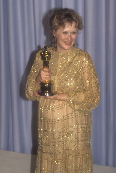 Radiant and pregnant at the 1983 Oscars.