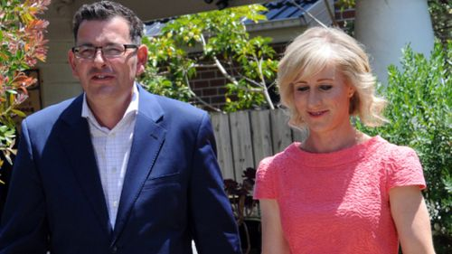 Mr Andrews and wife Cath in 2014. (AAP)