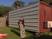 Mum forced to live in shipping container after gifting daughter home