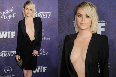 Taryn Manning is leaving little to the imagination in this dangerous dress!