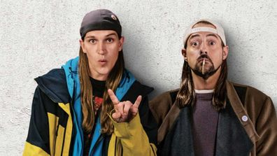 Jay Mewes and Kevin Smith in a scene from Jay and Silent Bob Reboot.