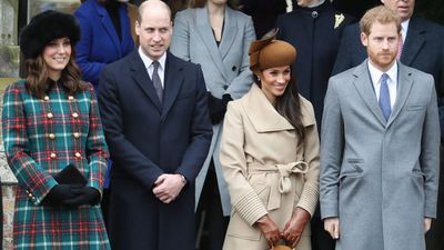 Kate and Meghan attend a Christmas Day service, December 2017