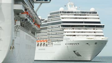More than 2000 passengers and crew are temporarily locked down on a ship while they undergo coronavirus screenings.