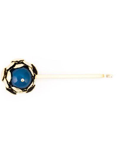 "<a href=""http://www.farfetch.com/au/shopping/women/rosantica-peonia-hair-pin-item-10989807.aspx?storeid=9675&amp;ffref=lp_667_1_"" target=""_blank"">'Peonia' hair pin, $96.64, Rosantica</a>"