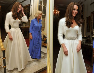 Kate Middleton in her second wedding dress