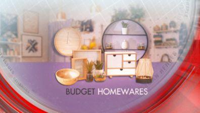 Budget homewares