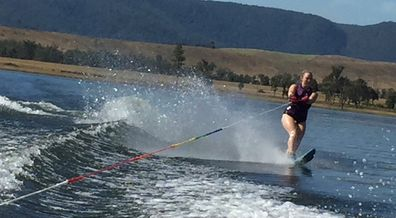 Jessica The Healthy Mummy waterskiing