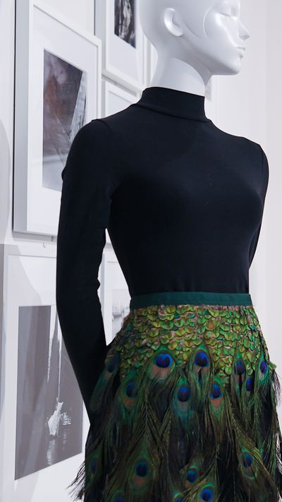 """A Prada skirt from the Darnell Collection at<a href=""""https://theartscentregc.com.au/gallery/coming-into-fashion/"""" target=""""_blank"""" draggable=""""false"""">Coming intoFashion at the Arts Centre Gold Coast</a>."""