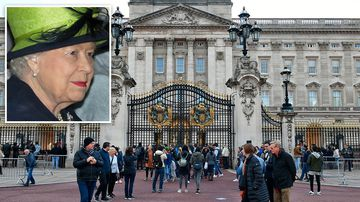 A man has been arrested at the visitors' entrance to Buckingham Palace for possession of a Taser, London's Metropolitan Police says.