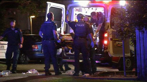 The man was taken to hospital where police have confirmed he has since died. (9NEWS)